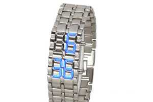 The Hironao Tsuboi Minimalist-Designed Watch has an LED Display