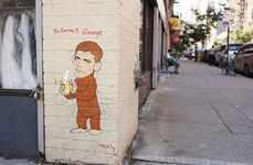 Celebrity Spoof Graffiti - Bi-Curious George is the Latest from Hanksy
