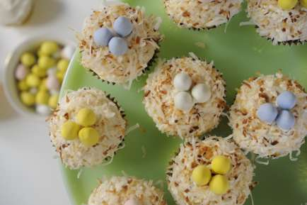 Coconut Nest Cupcakes