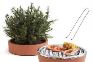 Hot Pot BBQ by Black+Blum Hides Your Cooker Under a Herb Garden