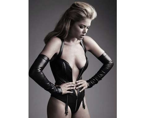 34 Debonair Doutzen Kroes Editorials - From High-Rise Hairdos to Catwoman Supermodels