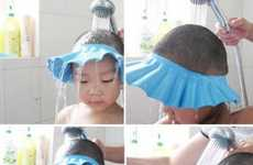 Bizarre Bathing Bonnets - The Baby Shampoo Shield Ensures No Teared Toddlers