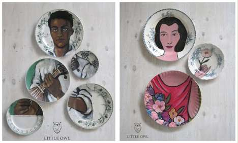 Puzzle Piece Plates - The 'Altered Perspectives' Collection by Little Owl Designs Transforms Dishes