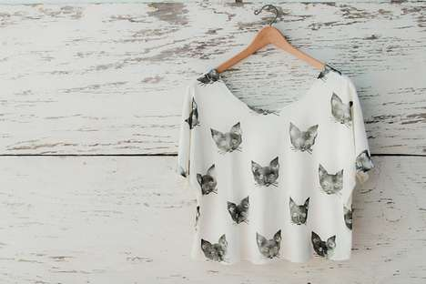 Leah Goren Kitty Cat Tee