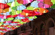 Prismatic Parasol Installations