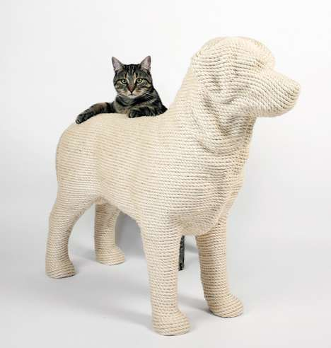 Dog-Shaped Scratching Posts