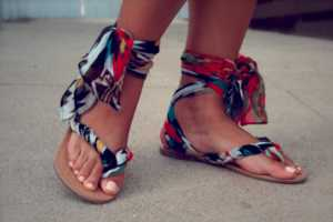 Go From Boring to Fabulous Using These DIY Gladiator Wrap Sandals