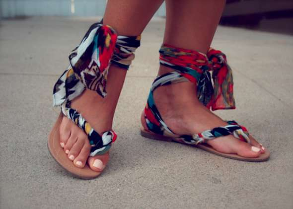 Customizable Strappy Sandals