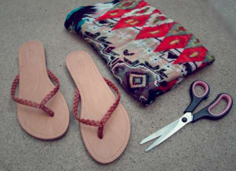 DIY Gladiator Wrap Sandals 