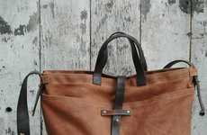 Peg And Awl Reuses Old Leathers And Reclaimed Wood To Make Their Products