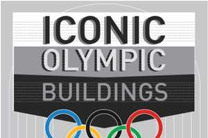 The Iconic Olympic Buildings Infographic is a Trip Back in Time
