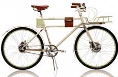 Antique Electric Bikes - The Faraday Porteur Bicycle is Sleek and Sophisticated
