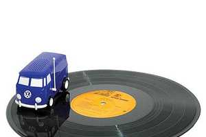 The Soundwagon Portable Mini Record Player Will Drive Around Discs
