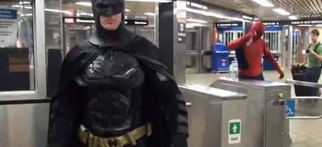 Superhero Street Face-Offs - The Spiderman vs. Batman Video Dukes it Out in Toronto