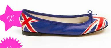 Repetto flag ballerina flats