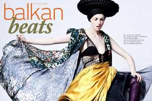 The Balkan Beats Editorial for Quality Magazine is Bold and Vibrant
