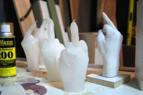 Middle Finger Candles