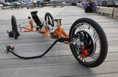 Powerful Plug-In Bicycles - The Tribey 'Electric Trike' Follows is Eco-Friendly