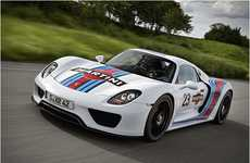 The Porsche 918 Spyder x Martini Racing Car is High-Powered