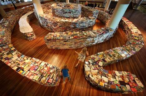 Fingerprint Book Mazes - The aMAZEme Installation is Inspired by Author Jorge Luis Borges