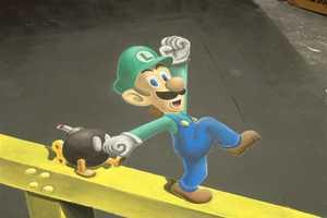 '3D Super Mario Chalk Art' by Chris Carlson is Hyper-Realistic