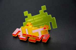 Paolo Castellaneta Space Invader Business Cards Stand Out From the Crowd