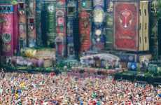 Giant Story Book Stages - The 2012 Tomorrowland Festival Main Stage is Fantastical