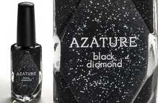 The Azature Black Diamond Nail Polish is Exuberantly Priced