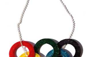 The Olympic Rings Necklace by StarsNscars Shows Support