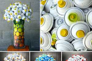 The Discarded Spray Can Flower Bouquets are a Girl's Best Friend
