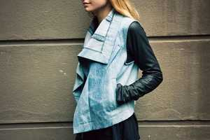 The Denim and Leather Max Jacket by VEDA is Rebellious