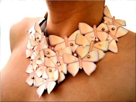 lovisetto butterfly bib necklace