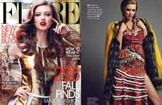 Luxuriously Textured Fashion - The Flare 'Shooting Star' Editorial Stars a Bold Lindsey Wixon