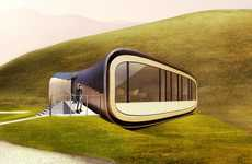 Curved Crustacean Cabins - Organic Scapes' Living Aleutian Home is Entirely Nature-Inspired