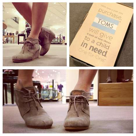 Utilitarian Neutral-Toned Wedges - The TOMS Desert Bootie is Another Pair of Chic Charitable Kicks