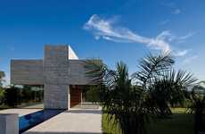 Contemporary Crucifix Facades - The All Saints Chapel Takes the Pure and Symbolic Form of the Cross
