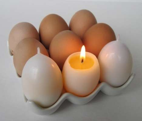Magic Egg Yolk Candles by Kittredge Candles