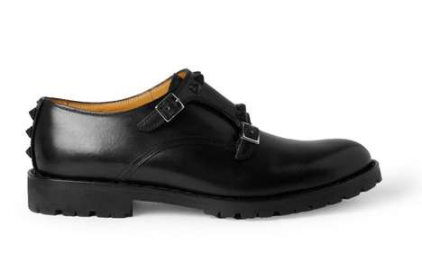 Valentino Studded Monk-Strap Shoes