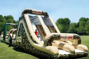 The Inflatable Military Obstacle Course Will Keep You Fit