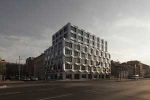 The 'Keystone Building' by Em2n is Czech Cubism-Inspired