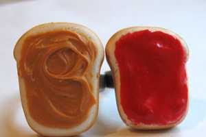 Peanut Butter and Strawberry Jelly Rings by Charlie Carter are Cute