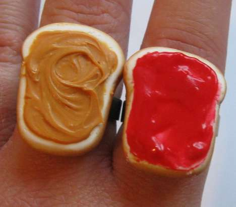 Peanut Butter and Strawberry Jelly Rings by Charlie Carter