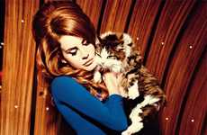 Retro-Kitsch Songstress Editorials - The Vogue Italia August 2012 Photoshoot Stars Lana Del Ray