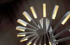 Stairway-Mimicking Lamps - The Spiral Staircase Lighting by .PSLAB is Strikingly Sculptural