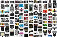 Pixelated Photographic Illustrations - The Camera Collection by Bill Brown is Free for All to Use