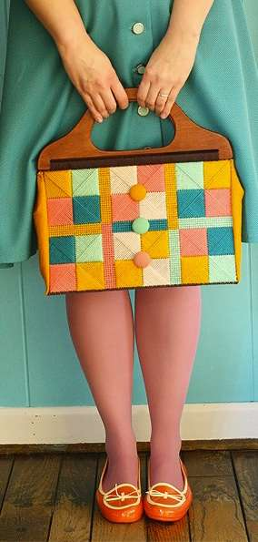 Vintage Needlepoint Bag Tutorial
