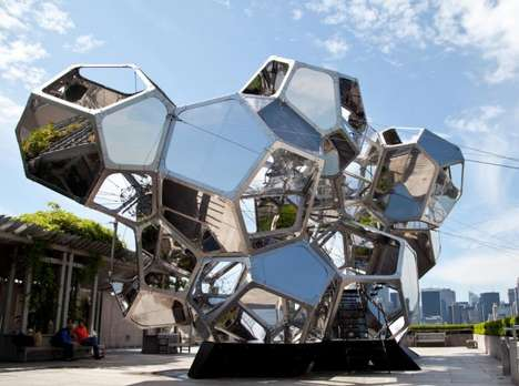 Bulbous Rooftop Installations - Artist Tomas Saraceno's Met Exhibit is Curved