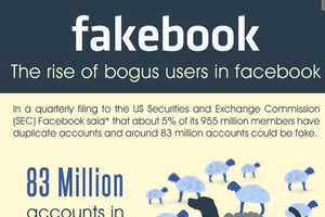 The 'Fakebook: The Rise of Bogus Users in Facebook' Infographic