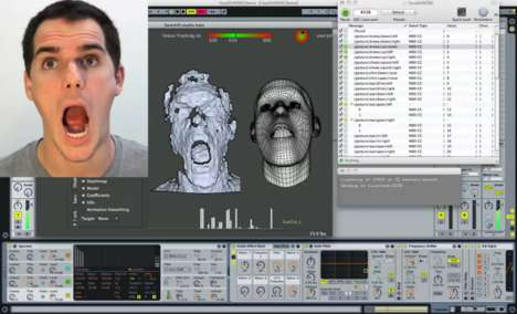 The FaceShift Studio experiments by Kyle McDonald