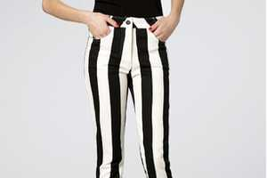 The Motel Rocks Skinny Striped Jordan Jean are Optical